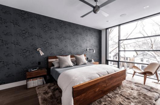 habitación tapizada